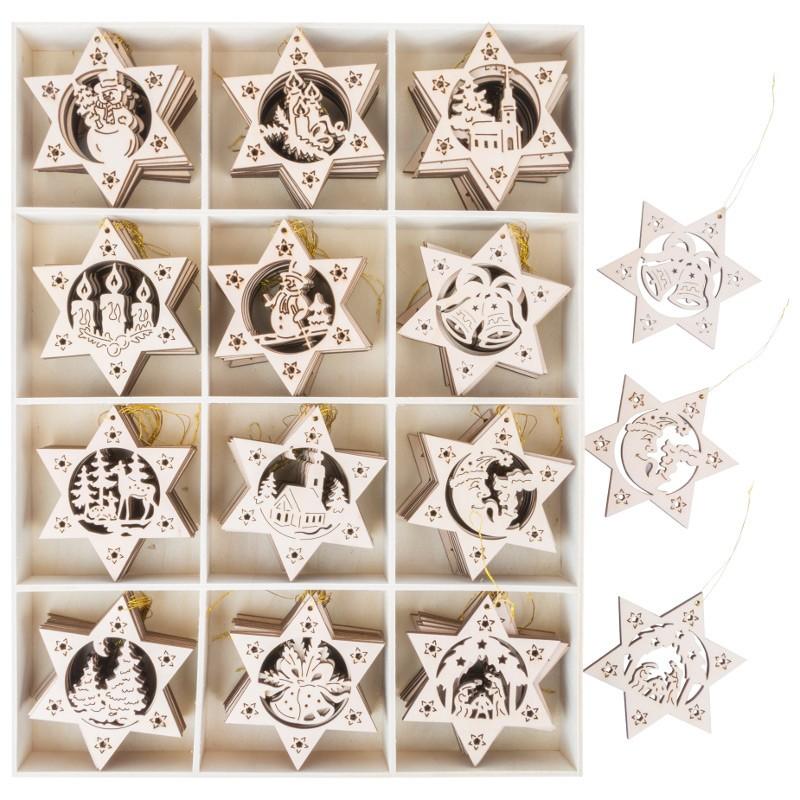 Nr.: 10994 gelaserte Sterne aus Holz - 10994 small foot design