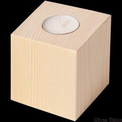 Nr.: 40018  Teelichthalter Würfel - 40018 Holzladen24.de