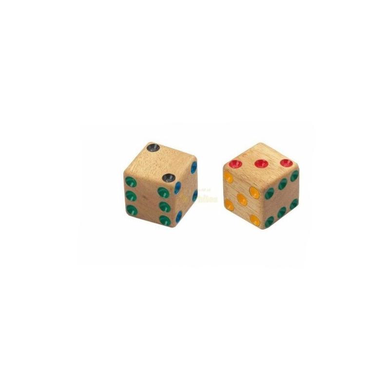 Nr.: 7005 Ein Set aus 4 Würfeln aus Holz - 7005 Philos Spiele