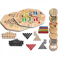 Nr.: 3096 Runde Holz-Spielesammlung 9 - 3096 Philos-Spiele