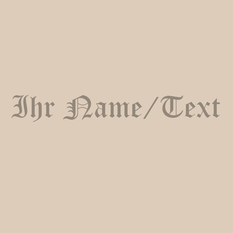 Lasergravur eines Textes in Old English bei Holzladen24.de