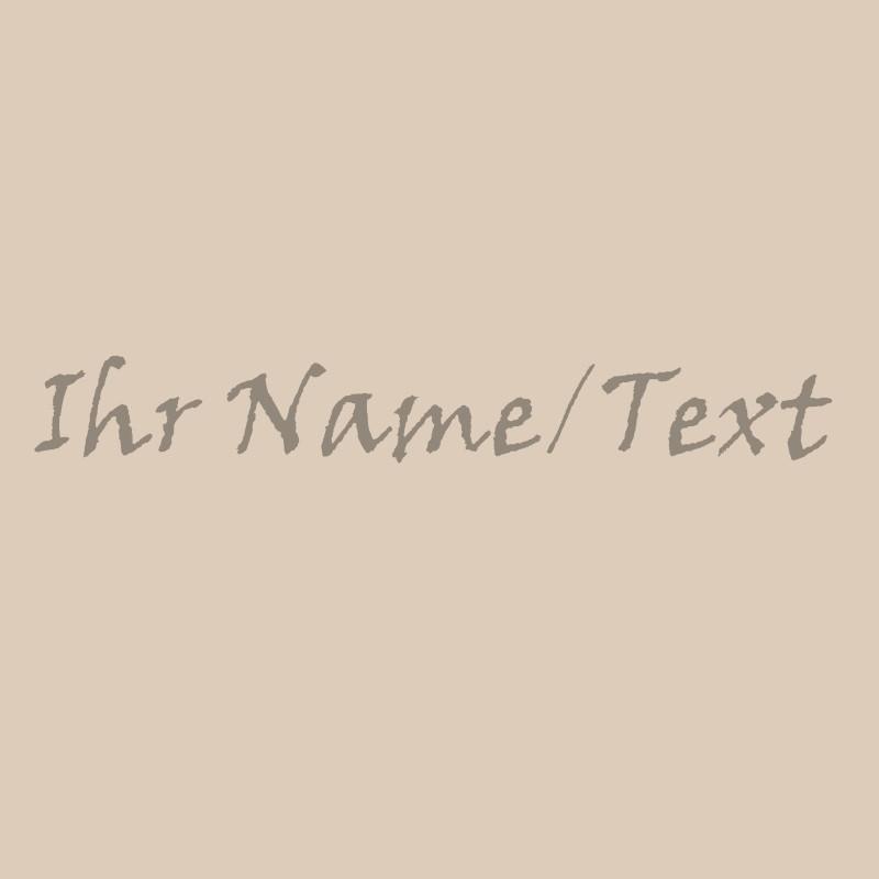 Lasergravur eines Textes in Viner Hand bei Holzladen24.de