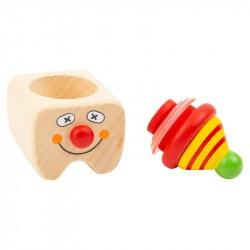 Nr.: 11394 Drei Milchzahndosen Clowns - 11394 Holzladen24.de