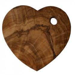 Nr.: USEHERZ Sechs Herzuntersetzer aus Olivenholz - USEHERZ Holzladen24.de