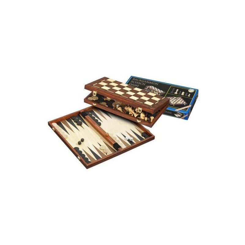 Nr.: 2510 Schach Dame Backgammon Feld 40 mm - 2510 Philos Spiele