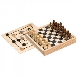 Nr.: 3094 Schach-Mühle-Spieleset - 3094 Philos-Spiele
