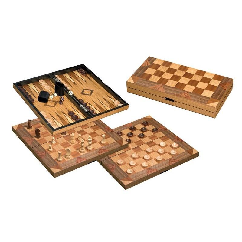 Nr.: 2522 Schach-Backgammon-Dame Feldgröße 43mm - 2522 Philos-Spiele