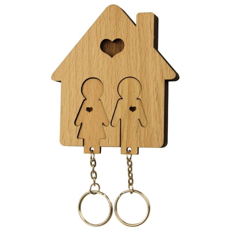 Nr.: UE04034 Schlüsselbrett Familie ohne Kinder - UE04034 MiMi Innovations