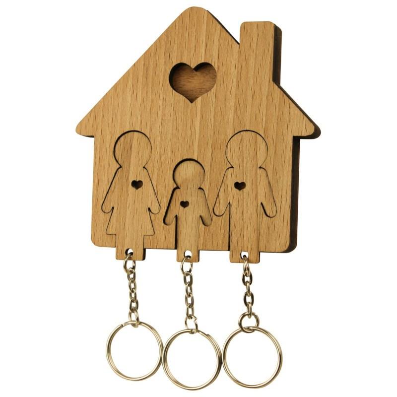 Nr.: UE04035 - Schlüsselbrett Familie mit Sohn - UE04035 MiMi Innovations