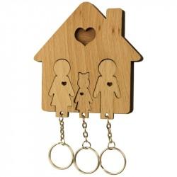 Nr.: UE04036 Schlüsselbrett Familie mit Tochter - UE04036 MiMi Innovations