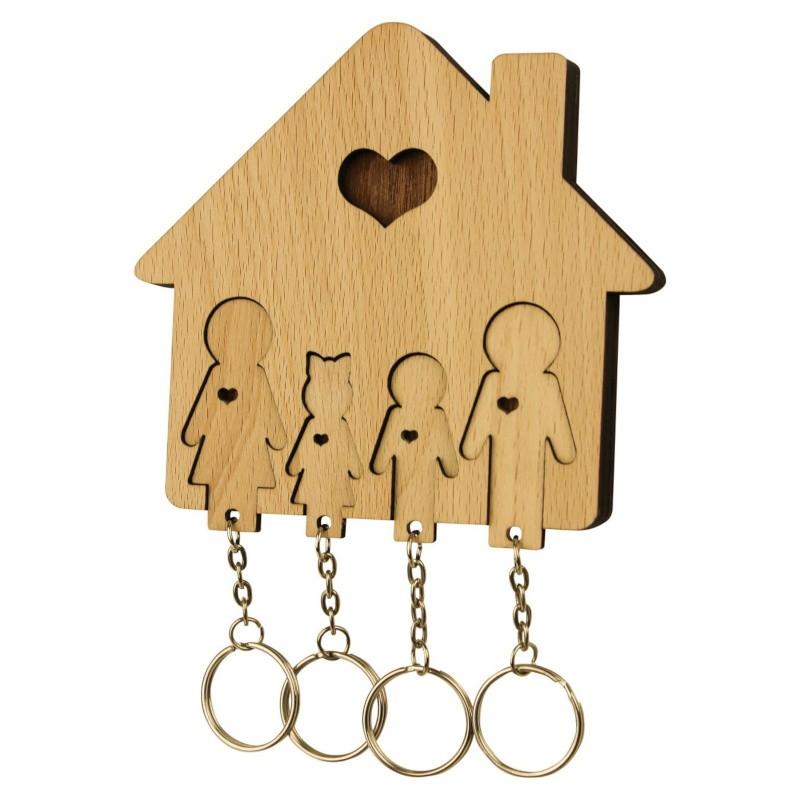 Nr.: UE04037 Schlüsselbrett Familie mit Sohn und Tochter - UE04037 MiMi Innovations
