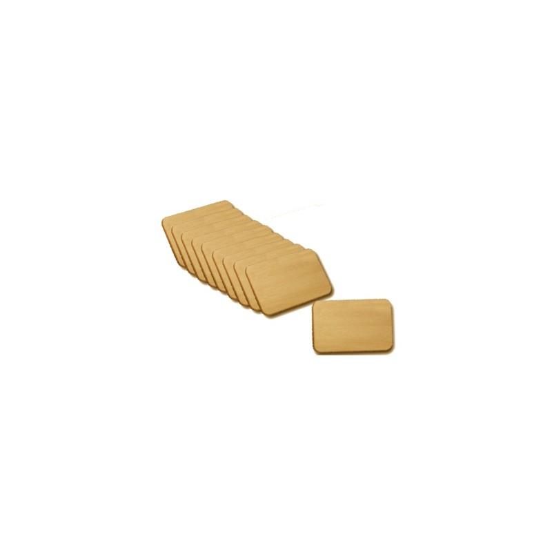 Nr.: 0220 Holzbrettchen - Brotzeitbrettchen im Set zu zehn