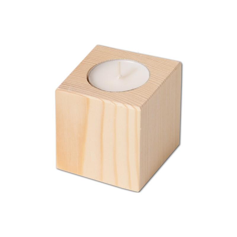 Nr.: 40017 quadratischer Teelichthalter - 40017 Holzladen24.de
