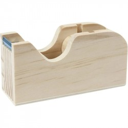 Nr.: 54403 Klebeband-Abroller aus Holz - 54403 Creotime