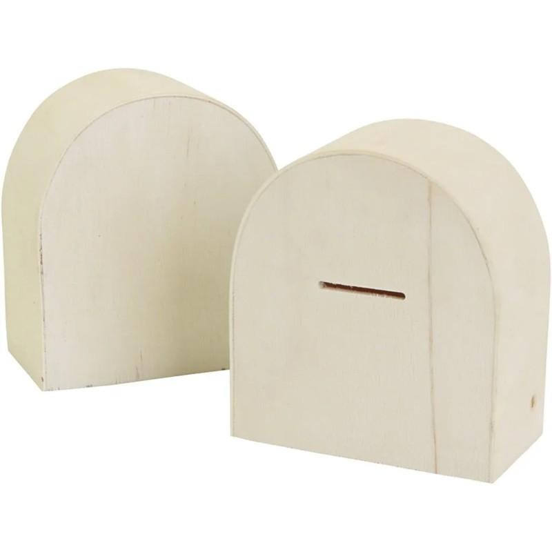 Nr.: 669061 runde Holzsparbox - 669061 Creotime