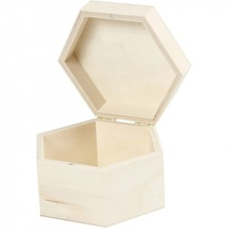 Nr.: 55321 sechseckige Holzbox - 55321 Creotime