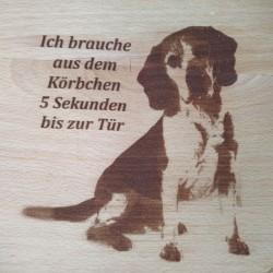 Lasergravur Foto mit Text von Holzladen24.de