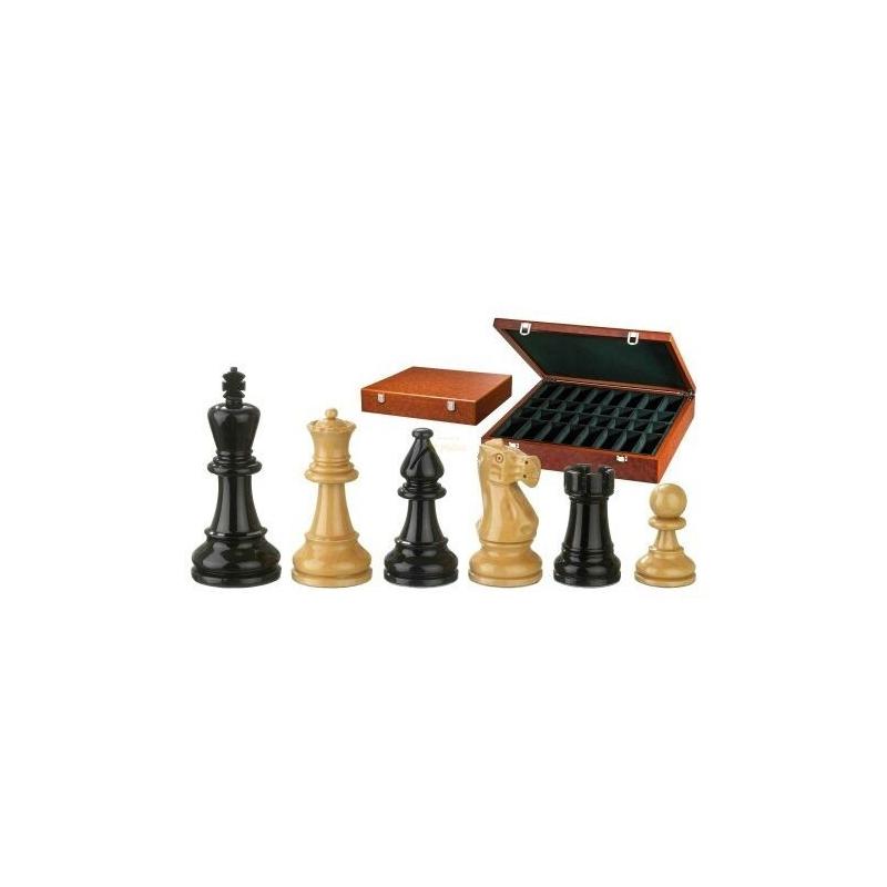 Nr.: 2271 Schachfiguren Philos-Nero natur KH 95 mm - 2271 Philos Spiele
