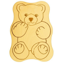 Nr.: 12241 Frühstücksbrettchen - Teddy - Holzladen24.de