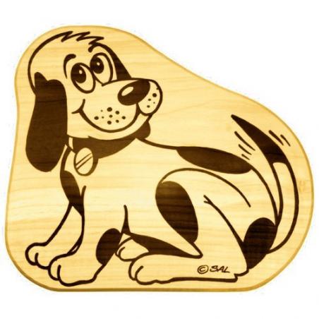 Nr.: 12250 Frühstücksbrettchen - Hund - Holzladen24.de