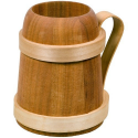 Nr.: 20232 Römerkrug aus Holz ca. 0,5l - Humpen - Holzladen24.de