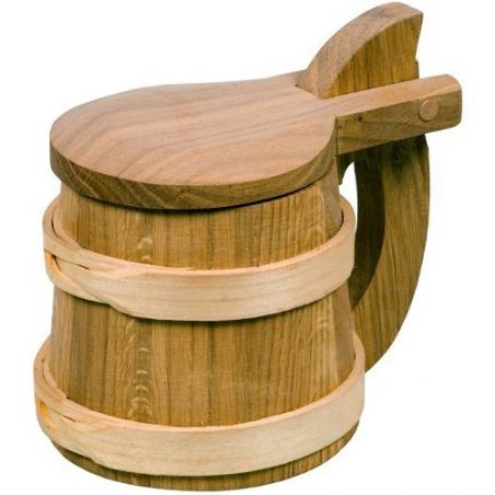 Nr.: 20233 Wikinger Metkrug aus Holz ca. 0,7l - Humpen - Holzladen24.de