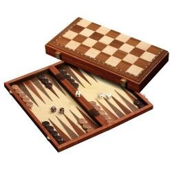 Nr.: 2524 Schach Dame Backgammon magnetisch Feld 43 mm - 2524 Philos Spiele