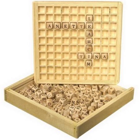 Nr.: 7988 Wörter Legebrett aus Holz mit Kassette - Holzladen24.de