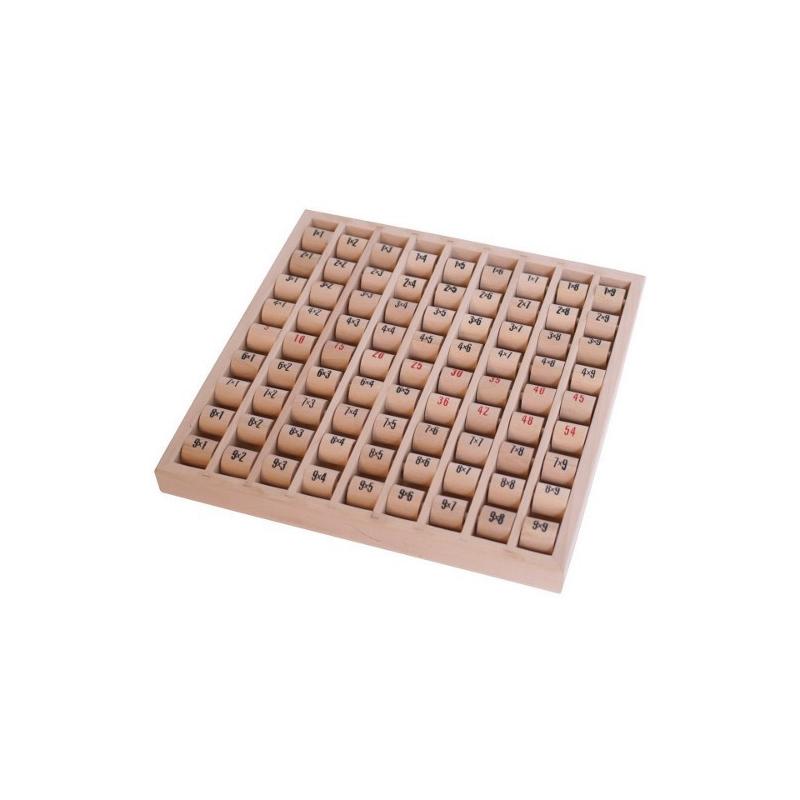 Nr.: 7392 Multiplizier-Tabelle aus Holz mit Walzen - Holzladen24.de