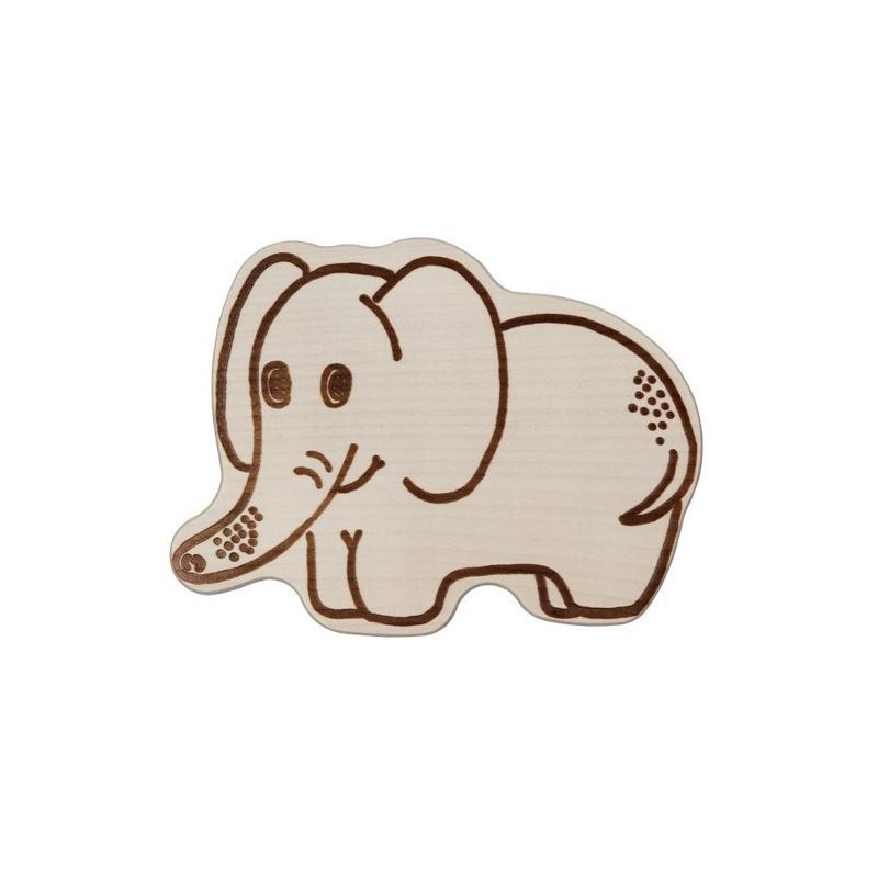 Nr.: 12202 Frühstücksbrettchen - Elefant - Holzladen24.de