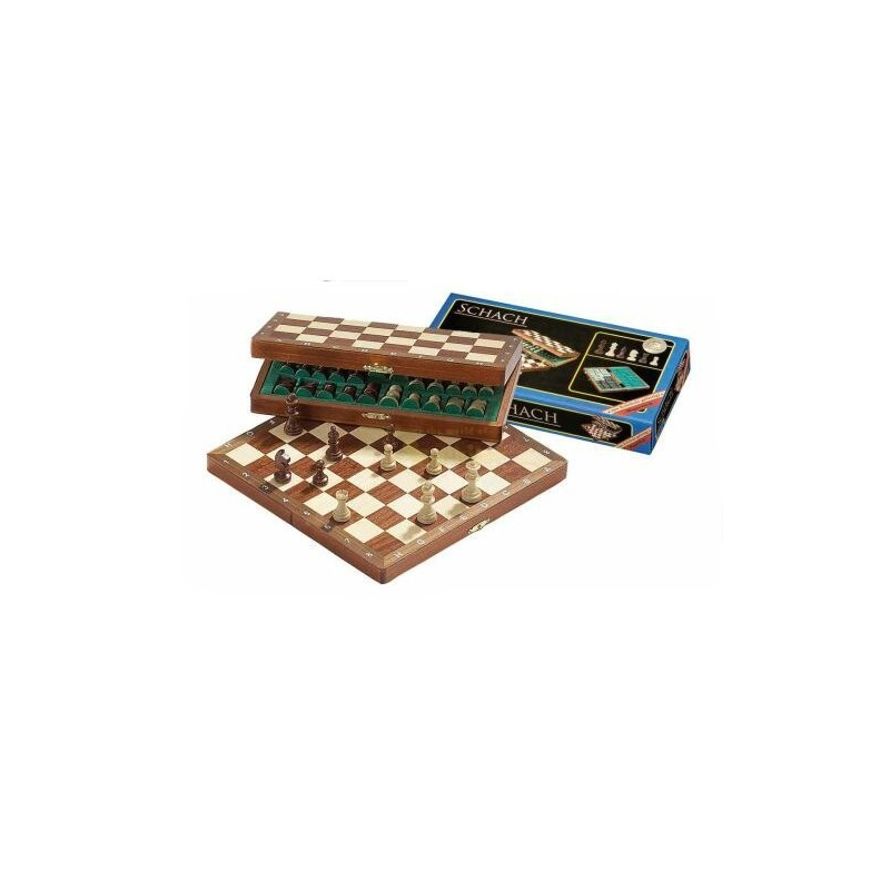 Nr.: 2710 Großes Reiseschach, magnetisch, Feldgröße 30 mm - 2710 Philos Spiele