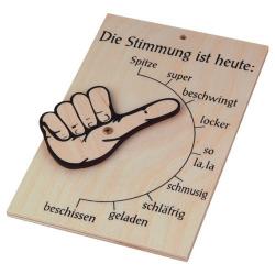 Nr.: 20841 Stimmungsbarometer aus Holz - 20841 Holzladen24.de