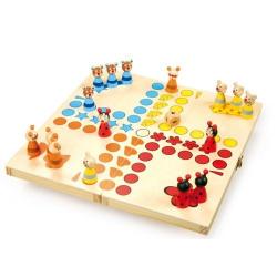 Nr.: 7358 Würfelspiel - Ludo - Tierspiel - 7358 Holzladen24.de