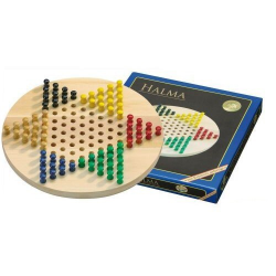 Nr.: 3113 Halma aus Holz im runden Design - 3113 Philos Spiele