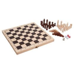 Nr.: 3453 Schach und Backgammon Spieleset - L-3453 Holzladen24.de
