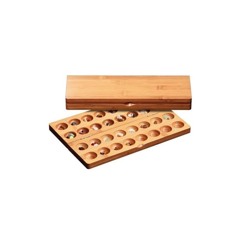 Nr.: 3257 Kalaha-Variante aus Bambus - 3257 Philos Spiele