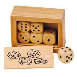 Nr.: HS239 Ein Set mit 6 Würfeln aus Holz - HS239 Toys pure