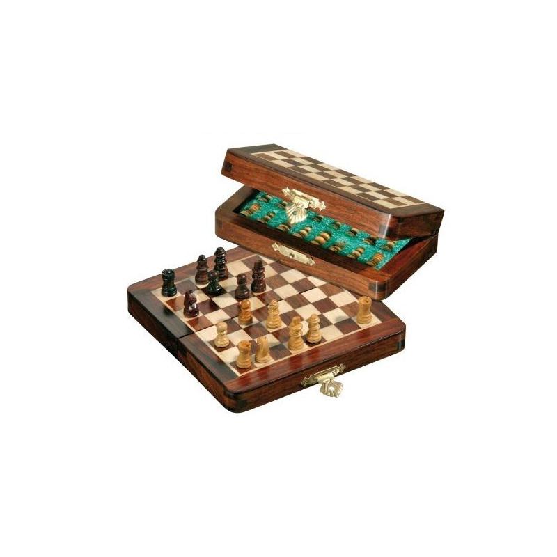 Nr.: 2719 Kleines Reiseschach, magnetisch, Feldgröße 12 mm - 2719 Philos Spiele