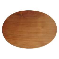 Nr.: 11075 Holzbrettchen Kirschholz oval  - Holzladen24.de