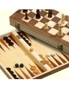 Schach- Backgammon Set's aus Holz