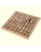 Sudoku, Zahlenrätsel und Trainer aus Holz
